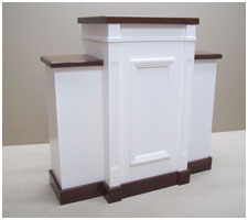 white pulpit